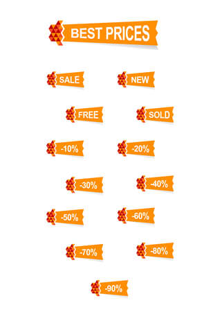 nice origami stickers Vector