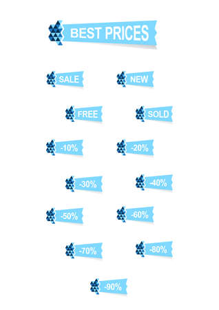 pricetag: best prices blue colors