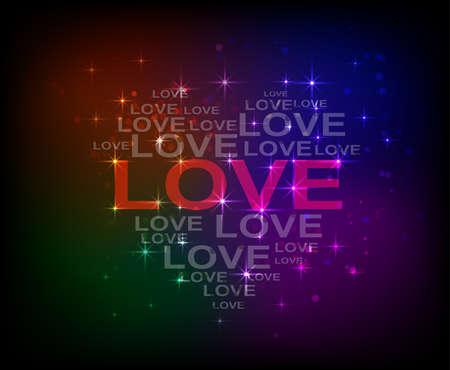 valentine s card: love love