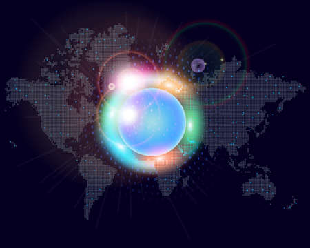 world map colors Vector