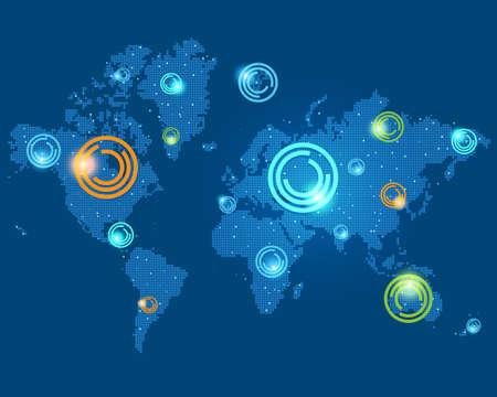 punten op de wereldkaart