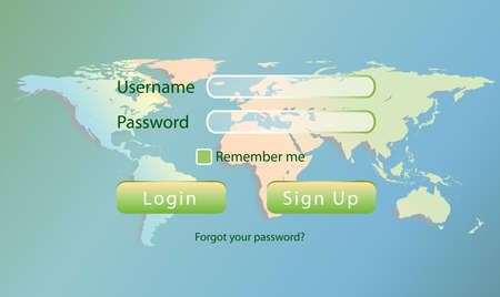 world login Illustration