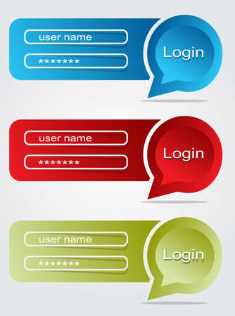 bubble login Illustration