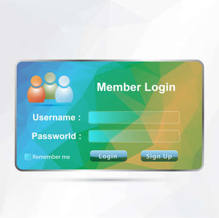 members area login Vector