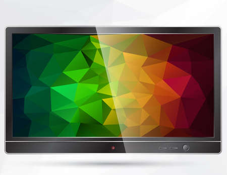 polygonal: TV with polygonal background