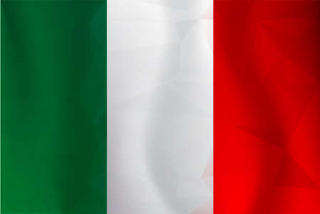 Italy flag polygonal Illustration