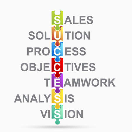 planning diagram: Business puzzle Vettoriali