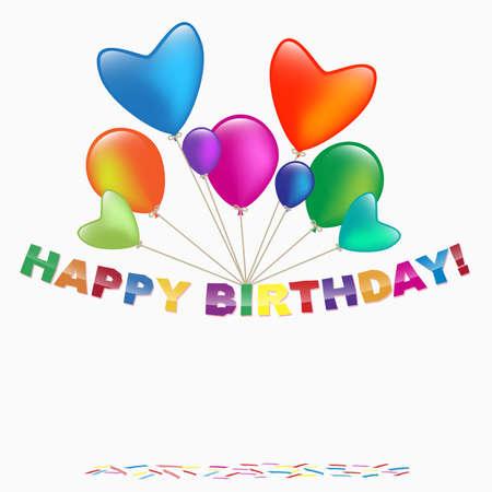 happy birthday card Stock Vector - 18166193