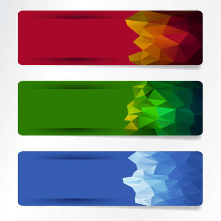 set of polygonal banner Stock Vector - 18217927