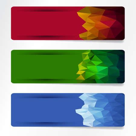 set of polygonal banner Stock Vector - 18217927