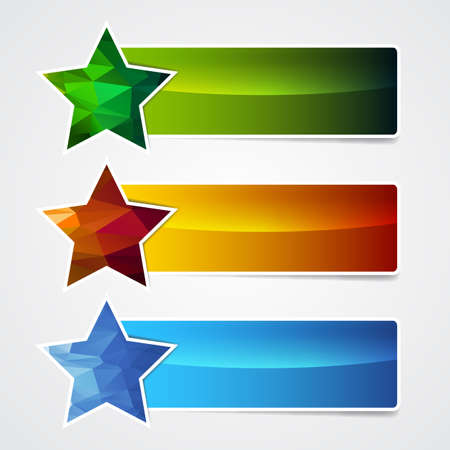 polygonal star banner