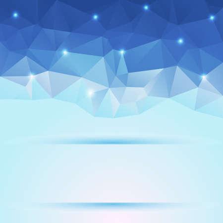 diamond shaped: nice blue polygonal background