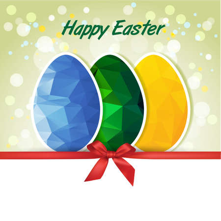 Easter polygonal eggs Vector