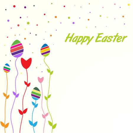 Easter colored card Stock Vector - 18261604