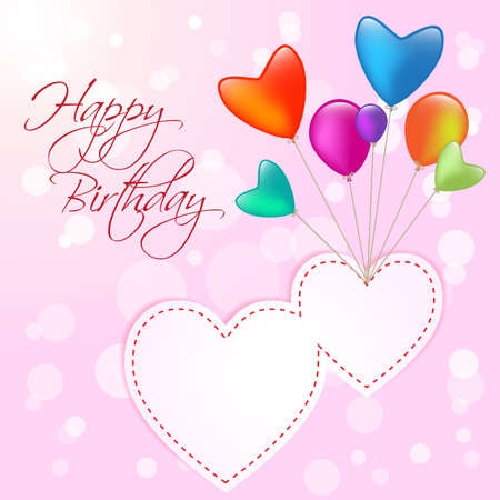 högtider: Grattis på födelsedagen 2 hearts ballong