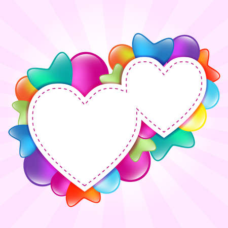 hearts with balloon Vector