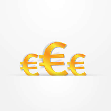 euro sign presentation Vector