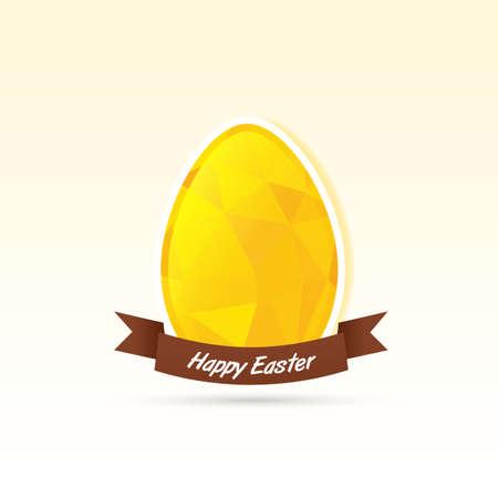 yellow polygonal egg card Stock Vector - 18594833
