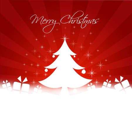 christmassy: chrismas tree with gifts illustration Illustration