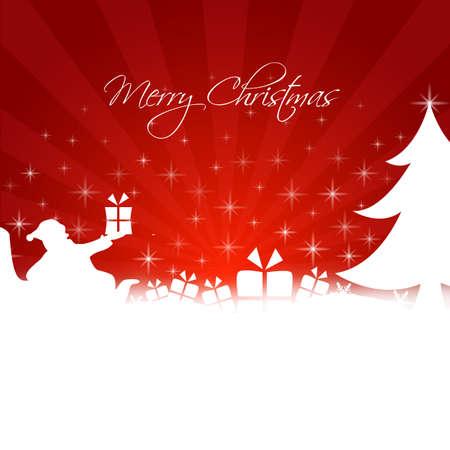 merry christmas illustration Stock Vector - 18755151