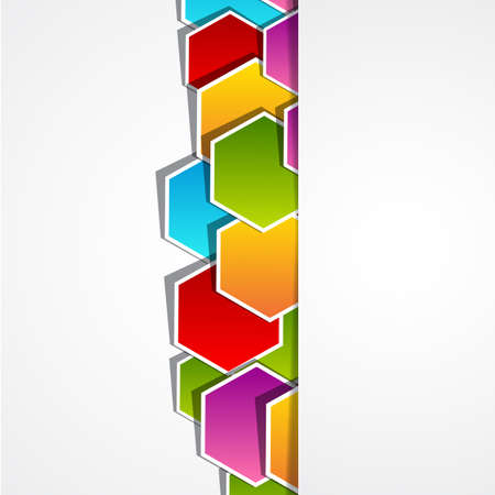 colored polygonal shape  Vector