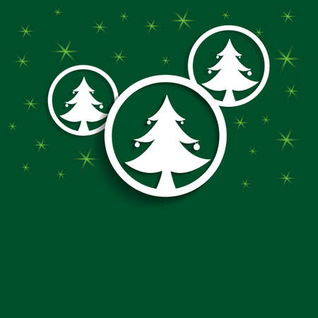 holliday: Christmas trees ball presentation  Illustration