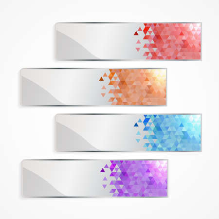 pixel banner set