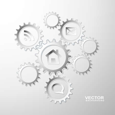 gear info graphic background Stock Vector - 20367107