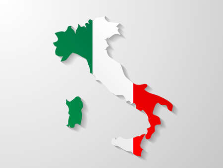 Italy map shadow effect