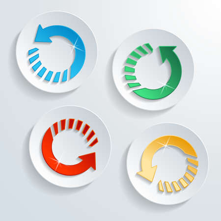 modern button circle arrow shape