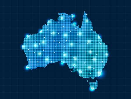 pixel Australia map