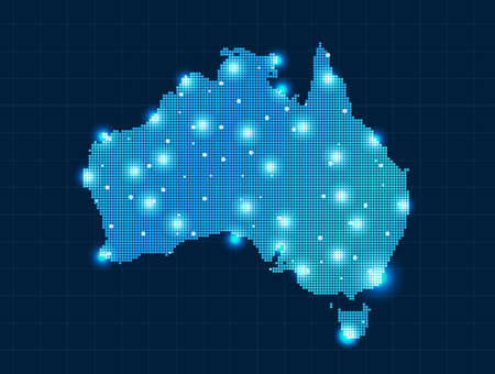 conceptual maps: pixel Australia mapa