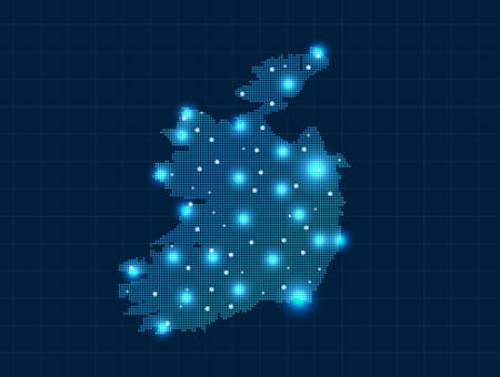 pixel Ireland map