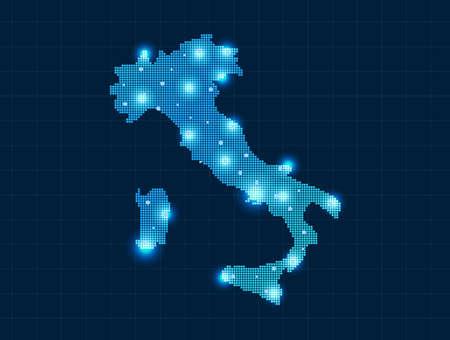 pixel Italy map Vector