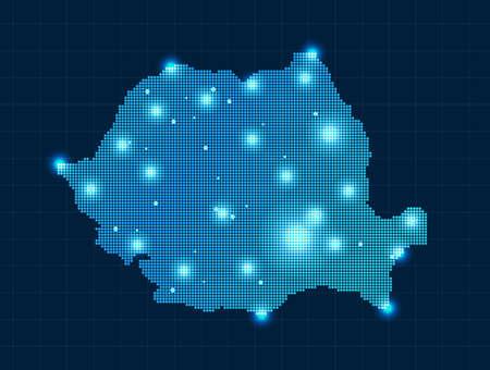 pixel map of Romania