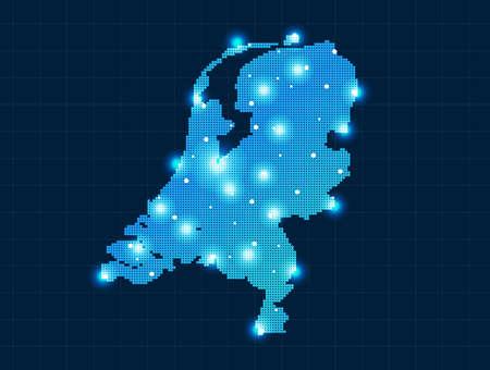 mapas conceptuales: pixel Países Bajos mapa