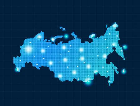 russland karte: pixel Russland-Karte