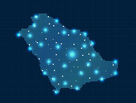 mapas conceptuales: Píxel Arabia Saudita mapa Vectores
