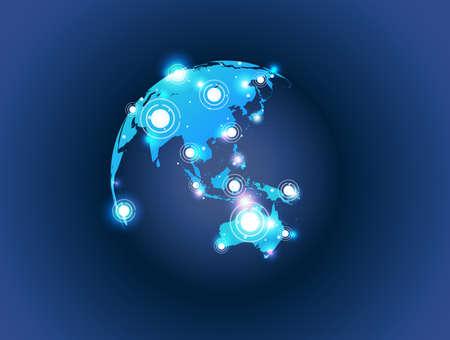 carte du monde globe pièce de connexion 3