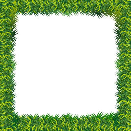 agriculture wallpaper: grass frame presentation  Illustration
