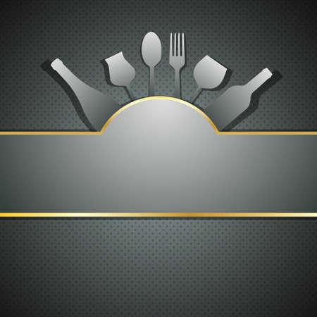 special service: Vector Restaurant menu design background