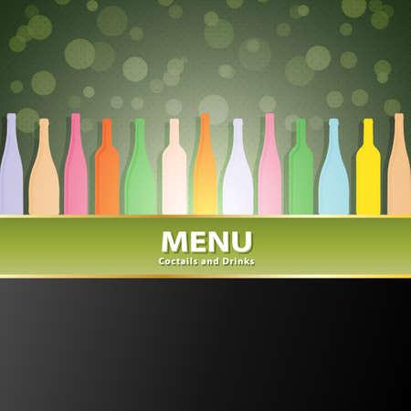 wines: vector wine list menu cover