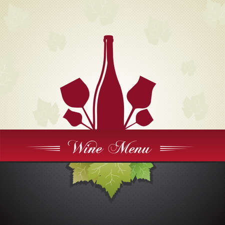 wine menu cover  Vector