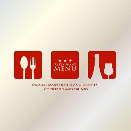 menu design presentation in metallic background Vector