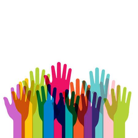 diversidad: manos vector