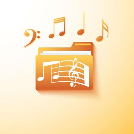 partition musique: dossier de notes de musique