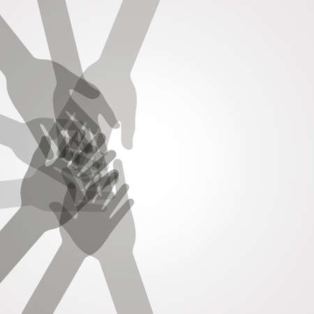 hopes: unity hands vector Illustration