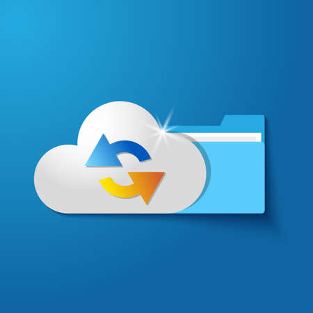 synchronized: vector cloud folder files