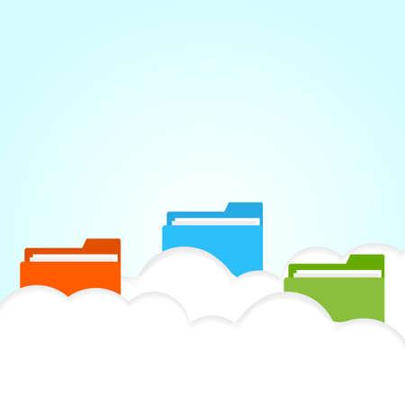 vector cloud folder Stock Vector - 21803628