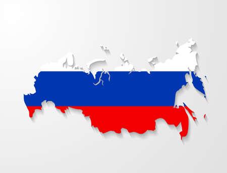 russland karte: Russland-Karte mit Schatten-Effekt Pr�sentation